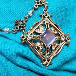 Avon Jewelry - Vintage Avon Faux Moonstone Necklace